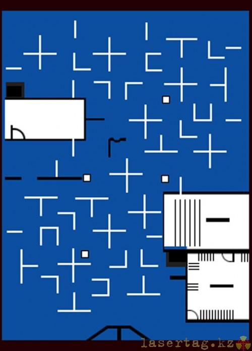 Q-Zar: план одной из реально существующих арен